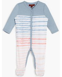 7 For All Mankind - Girl's 0-9 Footie In Ashley Blue - Lyst