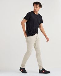7 For All Mankind - Total Twill Adrien Slim Tapered With Clean Pocket In White Onyx - Lyst
