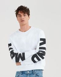 7 For All Mankind - Sweatshirt Jersey Bright White - We Are Mankind - Lyst