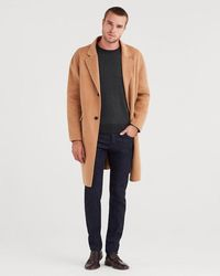 7 For All Mankind - Wool Overcoat In Camel - Lyst