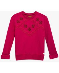 7 For All Mankind - Girls S-xl Pop-over Sweater In Anemone - Lyst