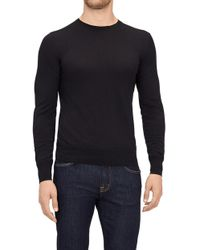 7 For All Mankind - Crew Neck Knit Cashmere Black - Lyst