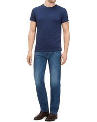 7 For All Mankind - Standard Cashmere Denim Mid Blue - Lyst