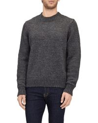 7 For All Mankind - Crew Neck Sweat Mohair Charcoal - Lyst