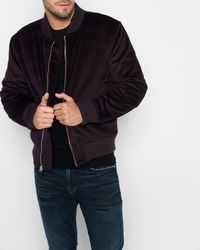 7 For All Mankind - Micro Cord Bomber In Port Wine - Lyst