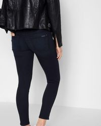 7 For All Mankind - B(air) Denim Ankle Skinny In Blue Black River Thames - Lyst