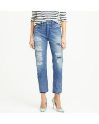 J.Crew Point Sur Shoreditch Selvedge Jean In Warnell Wash - Lyst