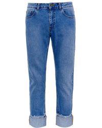 Raey - Deep Turn-up Straight-leg Jeans - Lyst