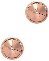 Katie Rowland - Mini Stake 18Kt Rose Gold Vermeil Earrings - Lyst
