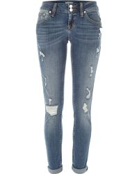 River Island Mid Wash Distressed Matilda Skinny Jeans blue - Lyst