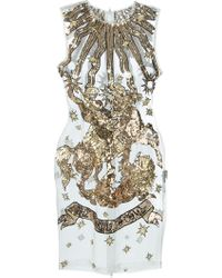 KTZ Sheer Sequin Embellished Silk Dress - Lyst