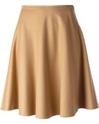 Ermanno Scervino Beige Flared Skirt - Lyst