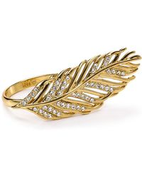 Rebecca Minkoff - Feather Knuckle Duster Ring - Lyst