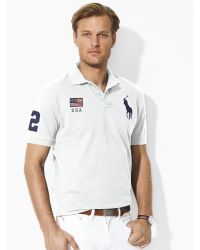 Ralph Lauren Classic-Fit Flag Polo Shirt - Lyst
