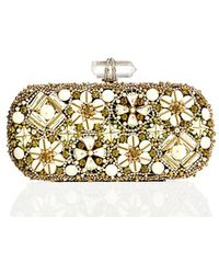 Marchesa Lily Enamel & Crystal Embroidered Clutch Bag - Lyst
