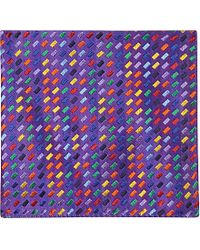 Duchamp Brick-Patterned Pocket Square - For Men - Lyst