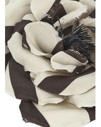 Alessandra Rich - Cream Grosgrain Floral Brooch - Lyst