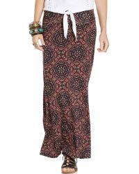 American Rag - Printed Foldover Maxi Skirt - Lyst