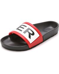 Hunter Hunter Slides - Black - Lyst