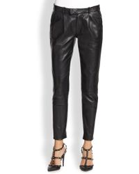 RED Valentino Leather Pants - Lyst