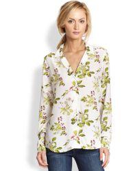 Equipment Adalyn Floral Silk Shirt - Lyst