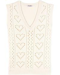 Miu Miu | Knitted Cashmere Sweater Vest | Lyst