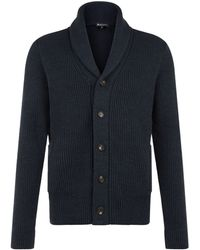 Aquascutum Warren Shawl Collar Cardigan - Lyst