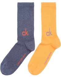 Calvin Klein - 2 Pack Large Logo Sock Set - Lyst