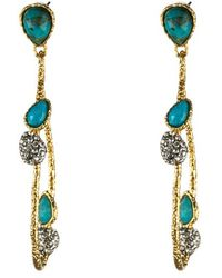 Alexis Bittar Vine Link Dangling Turquoise Earrings - Lyst