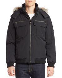 Calvin Klein | Faux Fur-trimmed Ultility Coat | Lyst