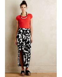 Weston - Abstract Wrap Maxi Skirt - Lyst