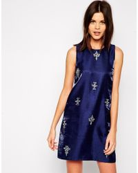 True Decadence Jewel Shift Dress - Lyst