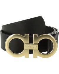 Ferragamo Double Gancini Adjustable Belt 679068 - Lyst