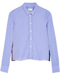 Band Of Outsiders Boxy Shirt with Inserts - Lyst