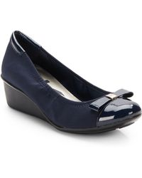 Ak Anne Klein Danah Cap Toe Wedges blue - Lyst