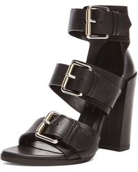 Proenza Schouler Buckle Leather Heels - Lyst