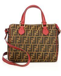 Fendi Zucca Shoulder Bag - Lyst