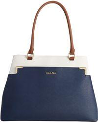 Calvin Klein On My Corner Saffiano Tote - Lyst