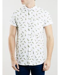 Topman White Feathers Shirt - Lyst