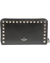 Valentino Zippered Leather Wallet - Lyst