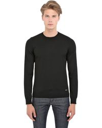 DSquared2 Round Neck Wool Sweater - Lyst