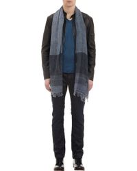 John Varvatos Crinkled Colorblock Scarf - Lyst