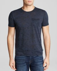John Varvatos Short Sleeve Burnout Tee - Lyst