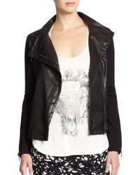 Haute Hippie Leather Combo Jacket - Lyst