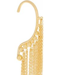 Arme De L'Amour - Fringed Gold-plated Ear Cuff - Lyst