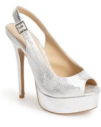 Chinese Laundry 'Abba' Slingback Platform Sandal silver - Lyst