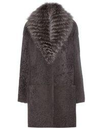 Manzoni 24 | Shearling Fox Fur Coat | Lyst