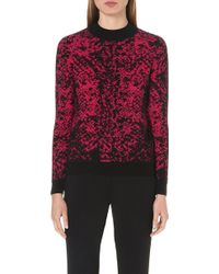Christopher Kane Jacquardknit Cashmere Jumper Fuchsia - Lyst