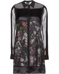 McQ by Alexander McQueen Layered Silk Dress - Lyst