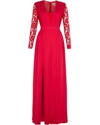 Alice By Temperley Red Full Length Lace Sleeve - Lyst